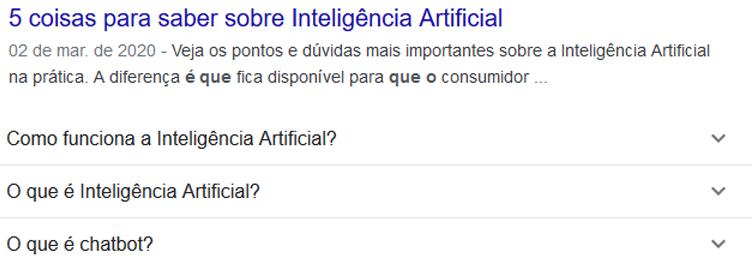 Google e FAQs