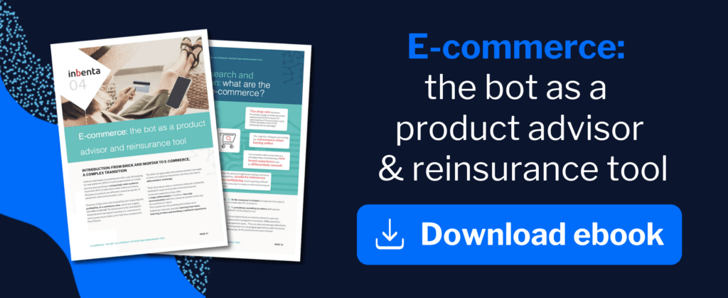 E-commerce, the bot as a product advisor and reinsurance tool ebook