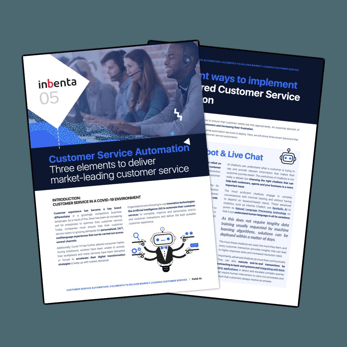 Customer Service Automation ebook