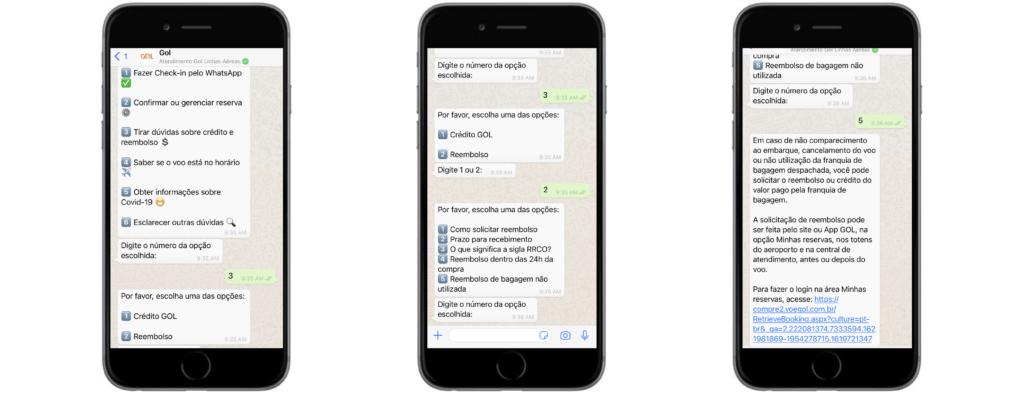 Exemples de WhatsApp Business API