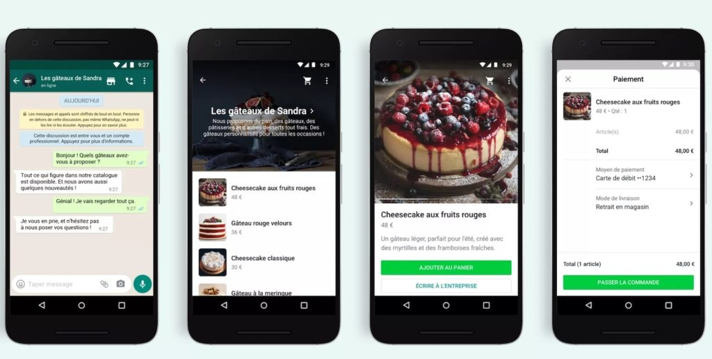 Exemple de WhatsApp Business App