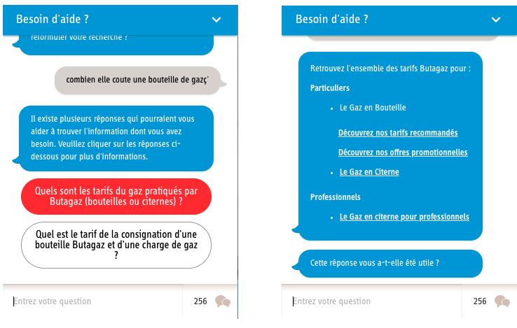 Butagaz : customer service example
