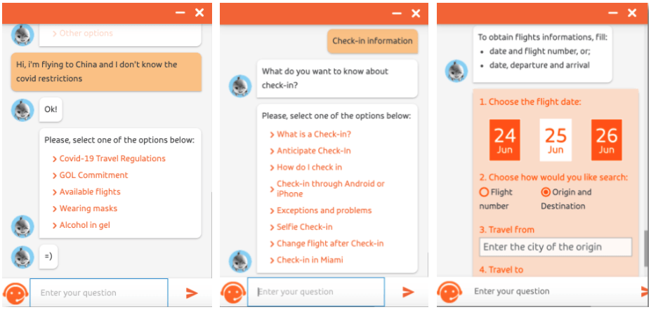 Gol AIrlines chatbot use case